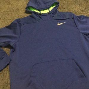 Royal blue/lime green Nike hoodie